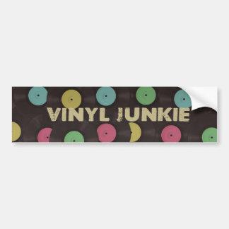 Vinyl Junkie Bumper Sticker Car Bumper Sticker