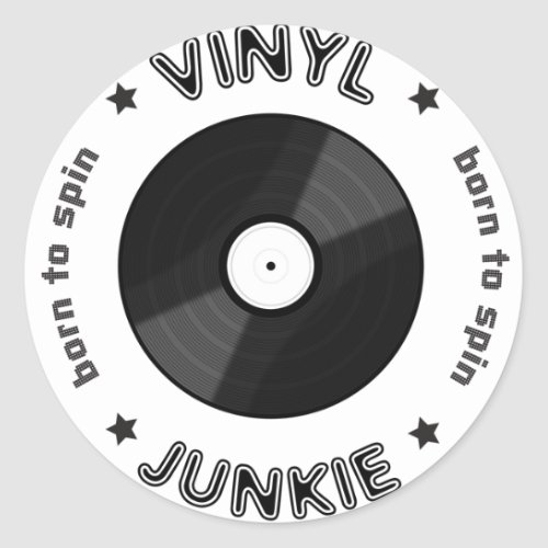 Vinyl Junkie Classic Round Sticker