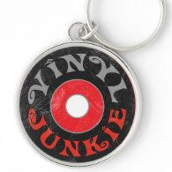 Vinyl Junkie Keychains