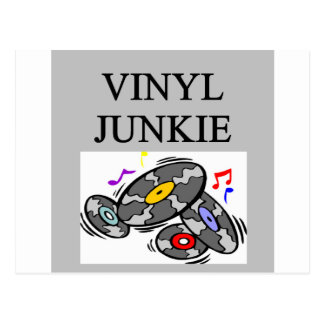 VINYL junkie record collector Postcard