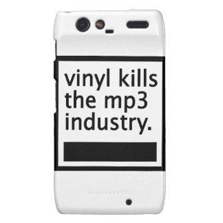 vinyl kills the mp3 industry - vintage droid RAZR cases