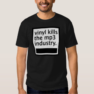 vinyl kills the mp3 industry - vintage t shirt