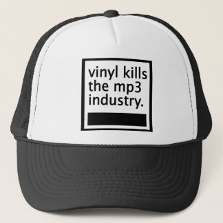 vinyl kills the mp3 industry - vintage trucker hat