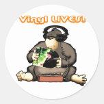 Vinyl LIVES! Round Sticker