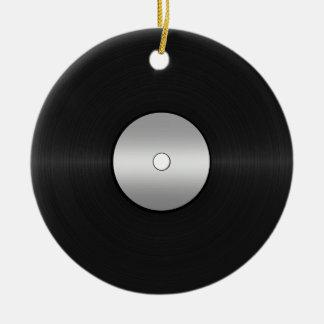 Vinyl-Look LP Record Ceramic Ornament