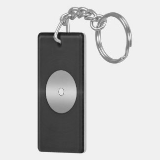 Vinyl-Look LP Record Keychain