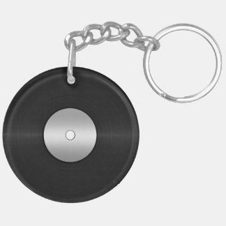 Vinyl-Look LP Record Keychain