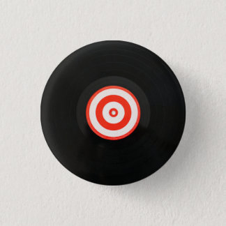 Vinyl LP record album button