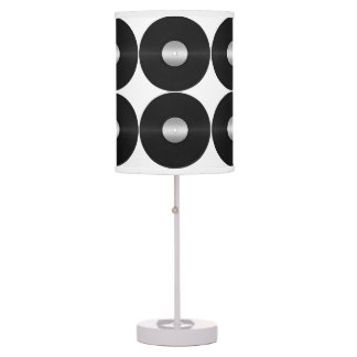 Vinyl LP Record Background Desk Lamp