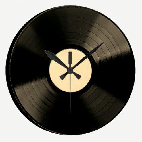 Vinyl Music Record Clock