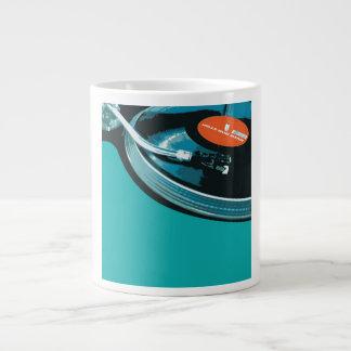 Vinyl Music Turntable Giant Coffee Mug