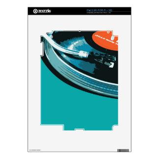 Vinyl Music Turntable Skin For iPad 2