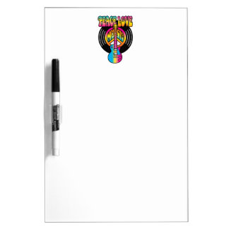 Vinyl Peace Love & Music Dry-Erase Board