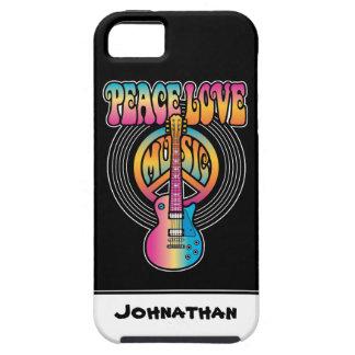 Vinyl Peace Love Music iPhone SE/5/5s Case