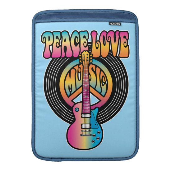 Vinyl Peace Love Music MacBook Air Sleeve