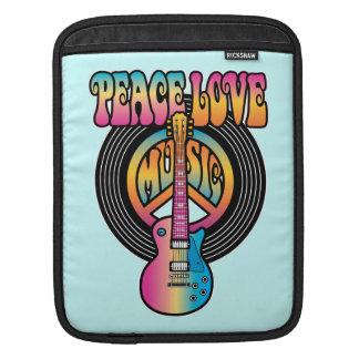 Vinyl Peace Love Music Sleeve For iPads