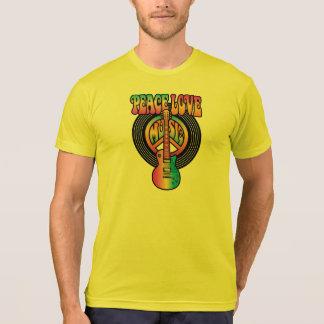 Vinyl Peace Love Music T-Shirt