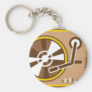 Vinyl Player vector Keychain