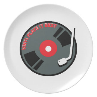 Vinyl Plays It Best Plate