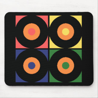 Vinyl Pop Art Mouse Pad