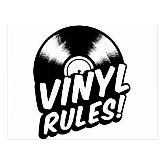 vinyl postcard