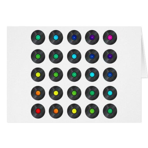 Vinyl Rainbow - Record Music Turntable Disc Jockey Greeting Card
