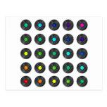Vinyl Rainbow - Record Music Turntable Disc Jockey Postcard