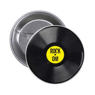 Vinyl Record 2 Inch Round Button