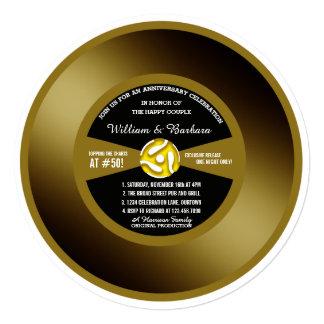 Vinyl Record 50th Anniversary Party Invitation