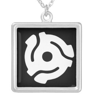 Vinyl record adapter necklace
