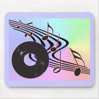 Vinyl Record and Notes Mousepad