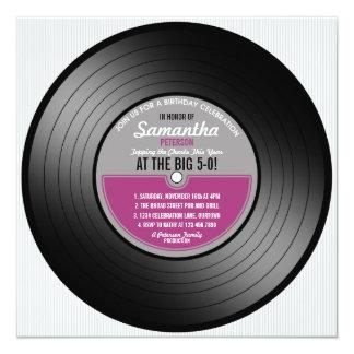 Vinyl Record Birthday 50th Party Invitation