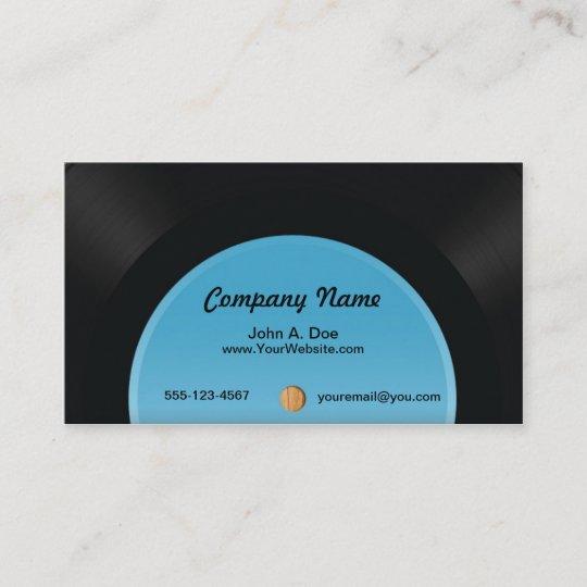 vinyl record business card zazzle com