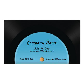 Vinyl Record Business Cards