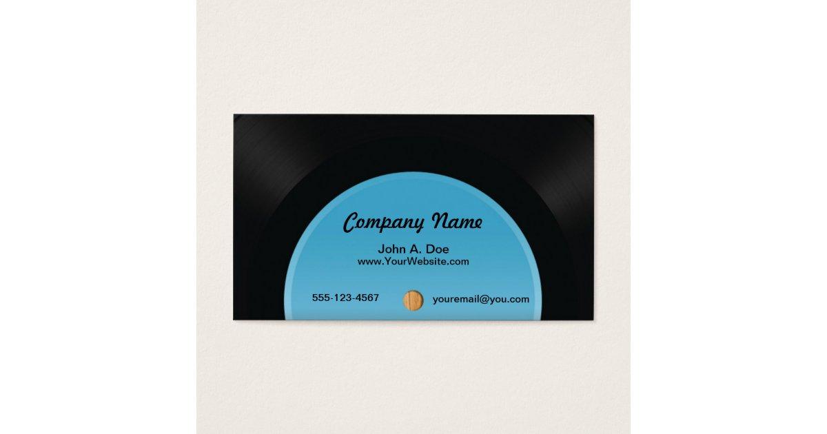 Vinyl Record Business Card | Zazzle.com