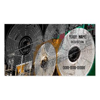vinyl record business card