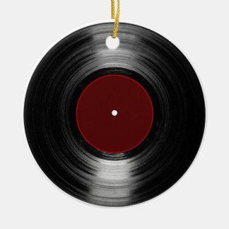 vinyl record ceramic ornament
