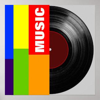 vinyl-record color bars poster