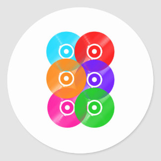 Vinyl Record Colors Classic Round Sticker