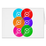 Vinyl Record Colors Greeting Cards