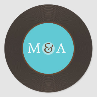 Vinyl Record Custom Wedding Classic Round Sticker