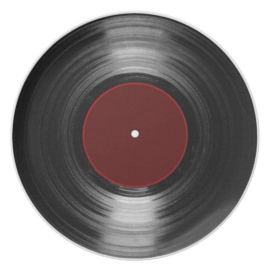 vinyl record dinner plate