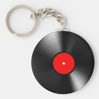 """""""Vinyl Record"""" gifts and products Basic Round Button Keychain"""