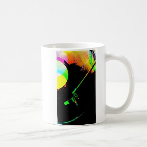 Vinyl record in many colors coffee mug