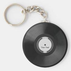 Vinyl.record Keychain at Zazzle