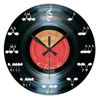 Vinyl Record Large Clock