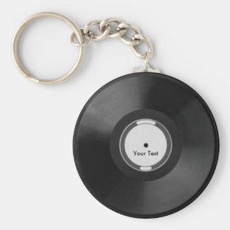 Vinyl.Record Llavero Redondo Tipo Pin