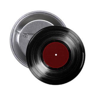 vinyl record long play pinback button