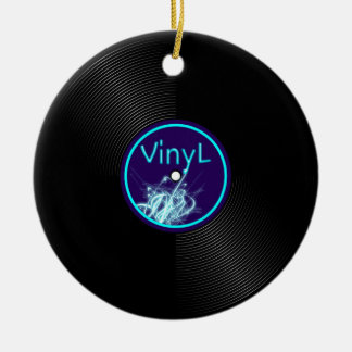 Vinyl Record LP Album 33 Ceramic Ornament