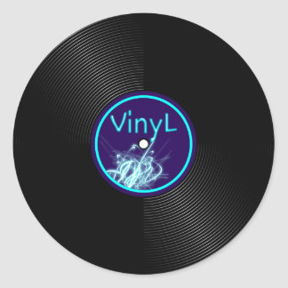 Vinyl Record LP Album 33 Classic Round Sticker